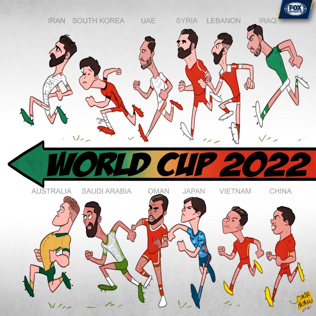 Biếm họa 24h: ĐT Việt Nam căng mình đua vé dự World Cup 2022 - Ảnh 6.
