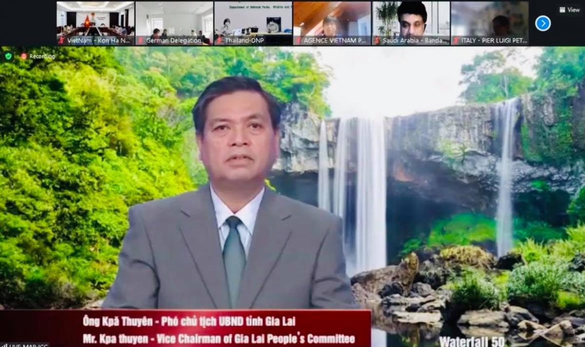 Đại diện tỉnh Gia Lai phát biểu tại Phiên họp