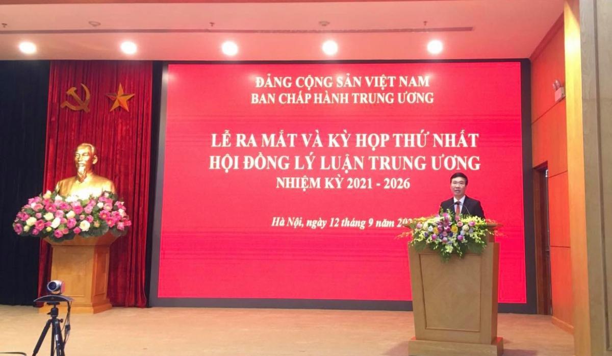 Ông Võ Văn Thưởng phát biểu tại lễ ra mắt Hội đồng Lý luận Trung ương