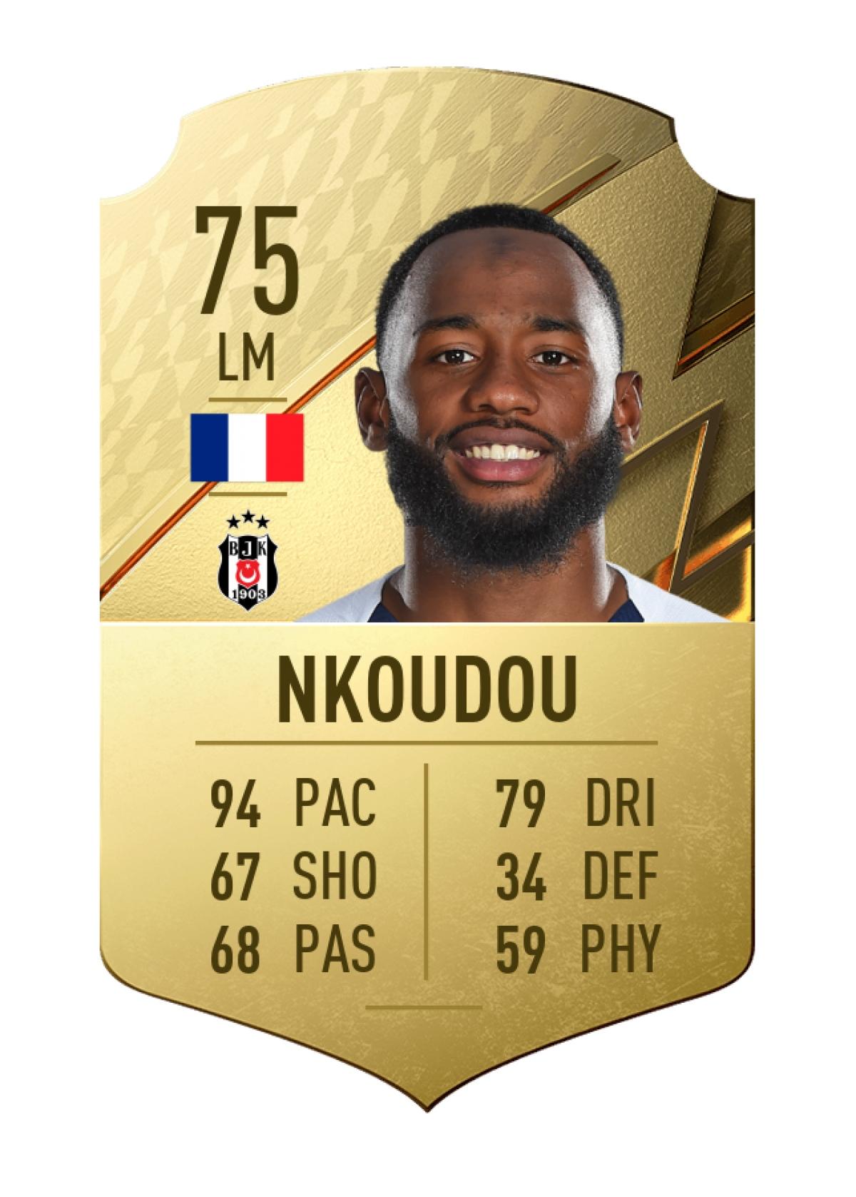 9. Georges-Kévin Nkoudou   Beşiktaş   Chỉ số chạy nhanh 94