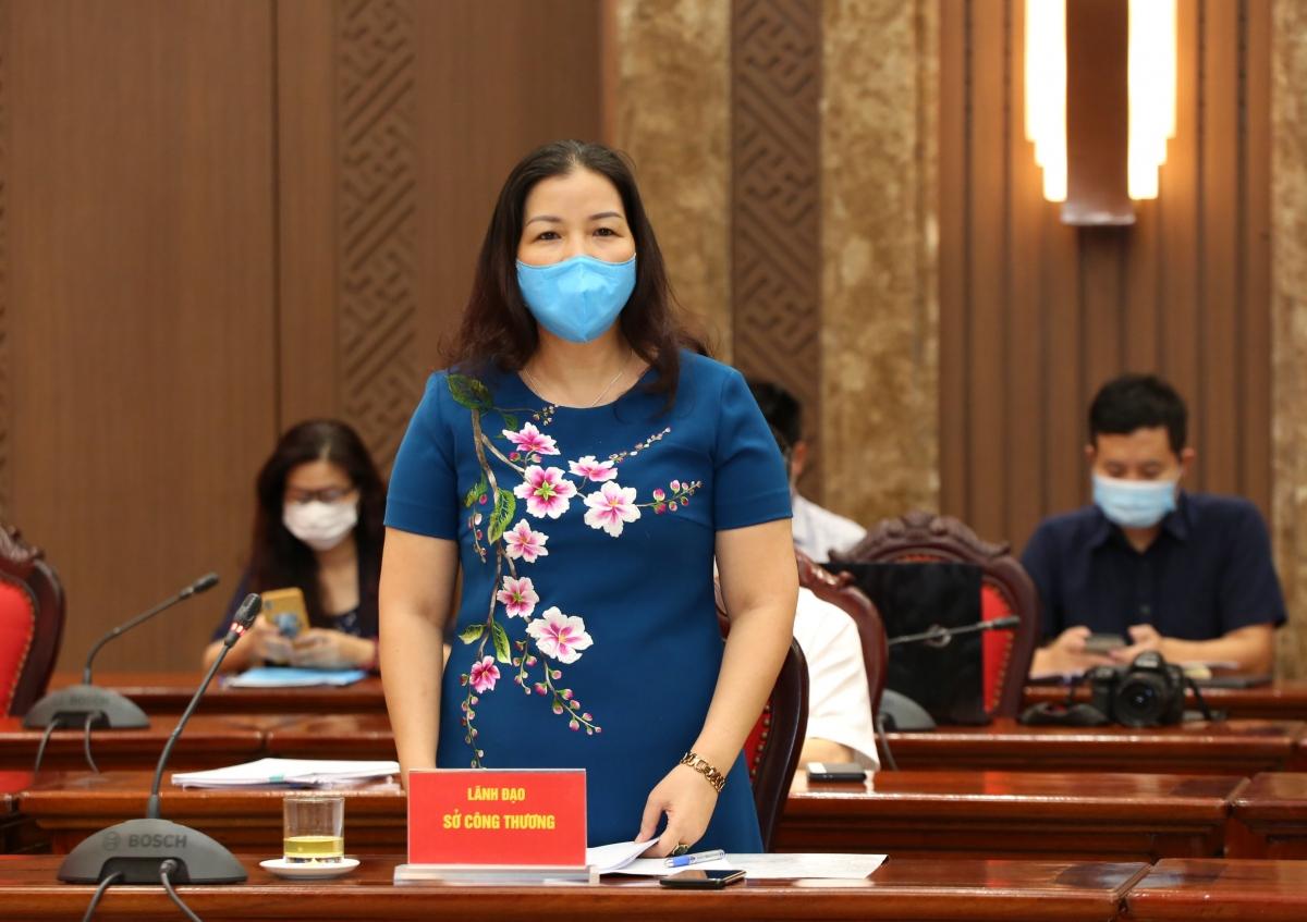 Quyền Giám đốc Sở Công Thương Hà Nội Trần Thị Phương Lan.