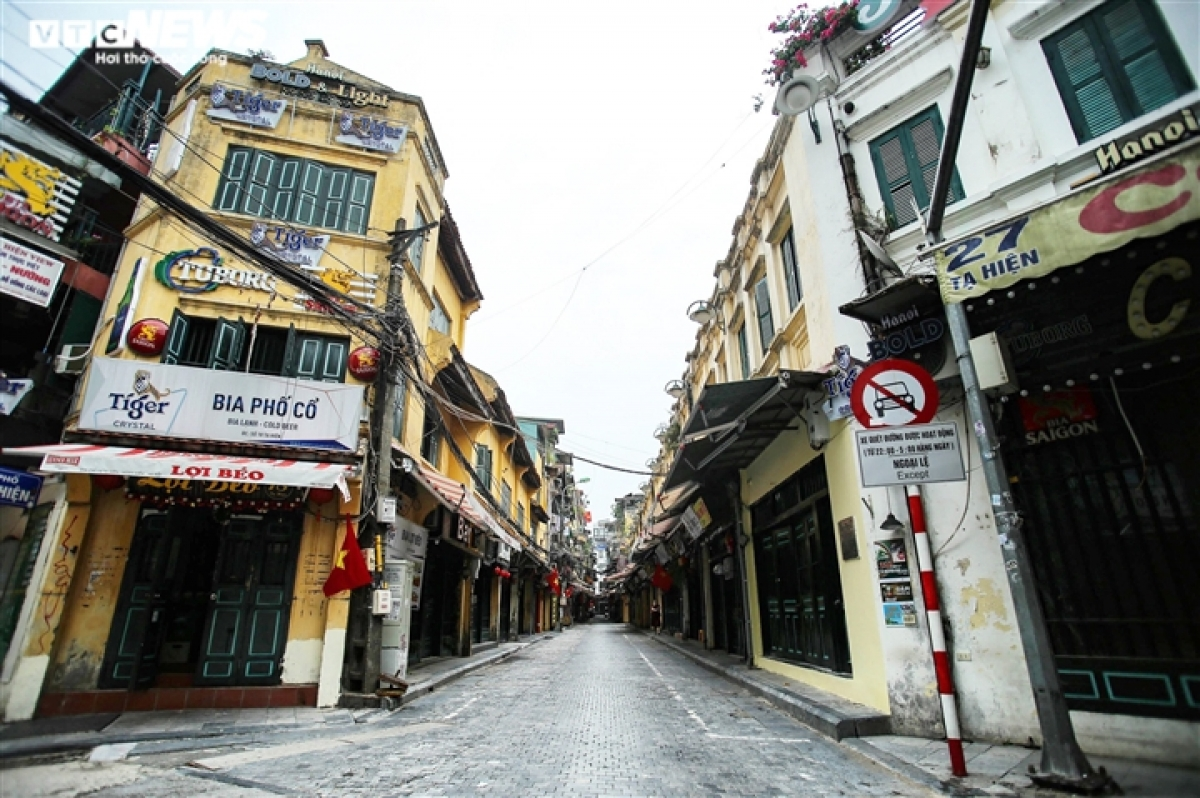 In the heart of Hanoi, Ta Hien street is in stark contrast to normal.
