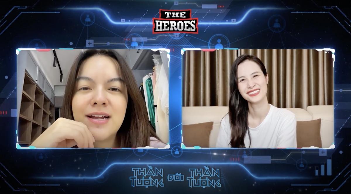 """Phạm Quỳnh Anh và Đông Nhi xuất hiện ở """"The Heroes""""."""