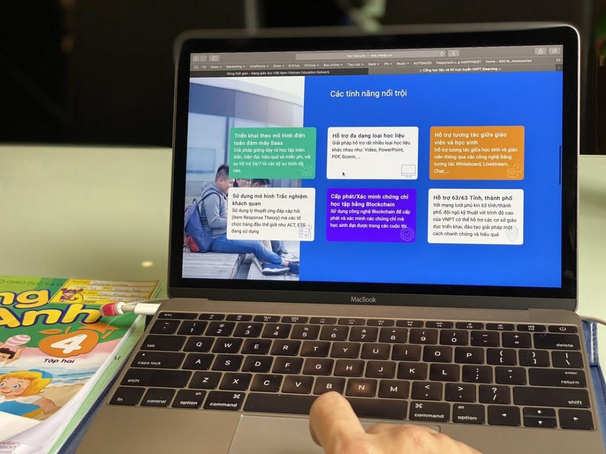 VNPT E Learning với nhiều tính năng hỗ trợ cho việc dạy và học trực tuyến