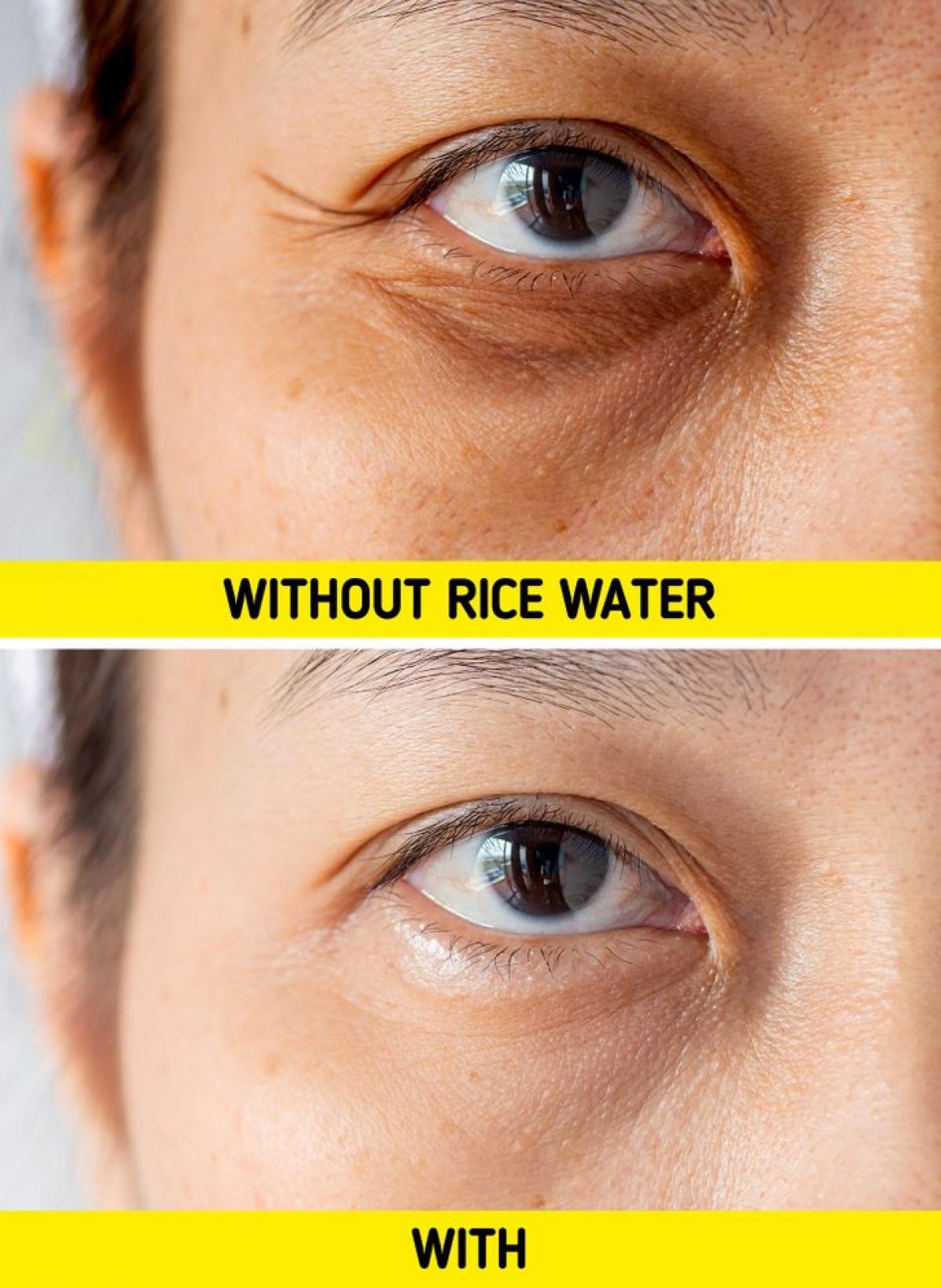Sử dụng nước gạo trong quá trình chăm sóc da sẽ làm giảm quá trình lão hoá.