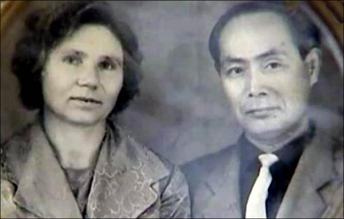 Bà Klavdia Novikova và ông Yasaburo Hachiya. Ảnh: Vesti.ru