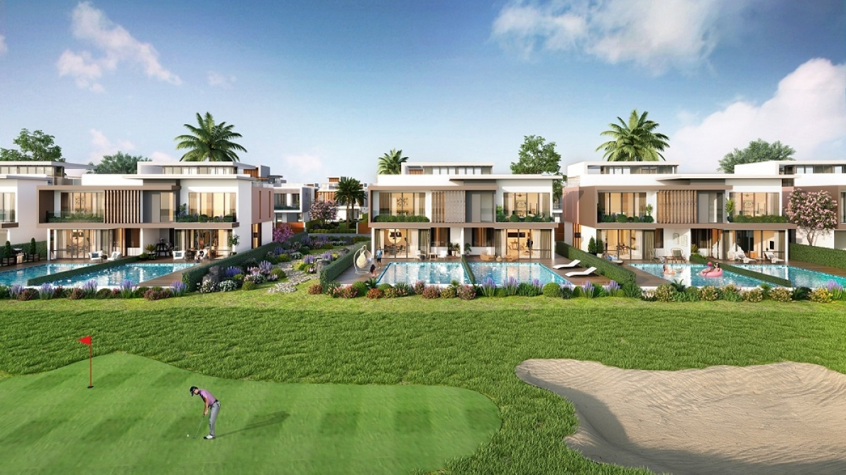 PGA Golf Villas tại NovaWorld Phan Thiet có tầm nhìn hướng biển cũng là một trong những lựa chọn thu hút sự chú ý của nhà đầu tư khắp cả nước trong thời gian qua. (Ảnh phối cảnh)