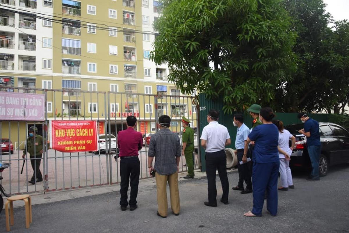 Chung cư HTX Trung Đô, TP Vinh nơi ghi nhận thêm 1 ca mắc Covid-19.
