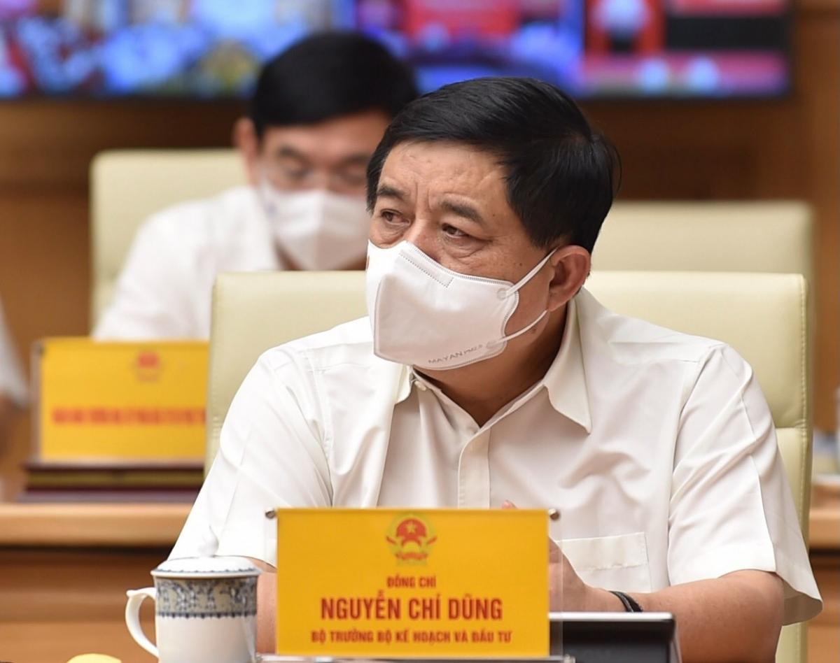 Bộ trưởng Bộ Kế hoạch và Đầu tư Nguyễn Chí Dũng tại hội nghị