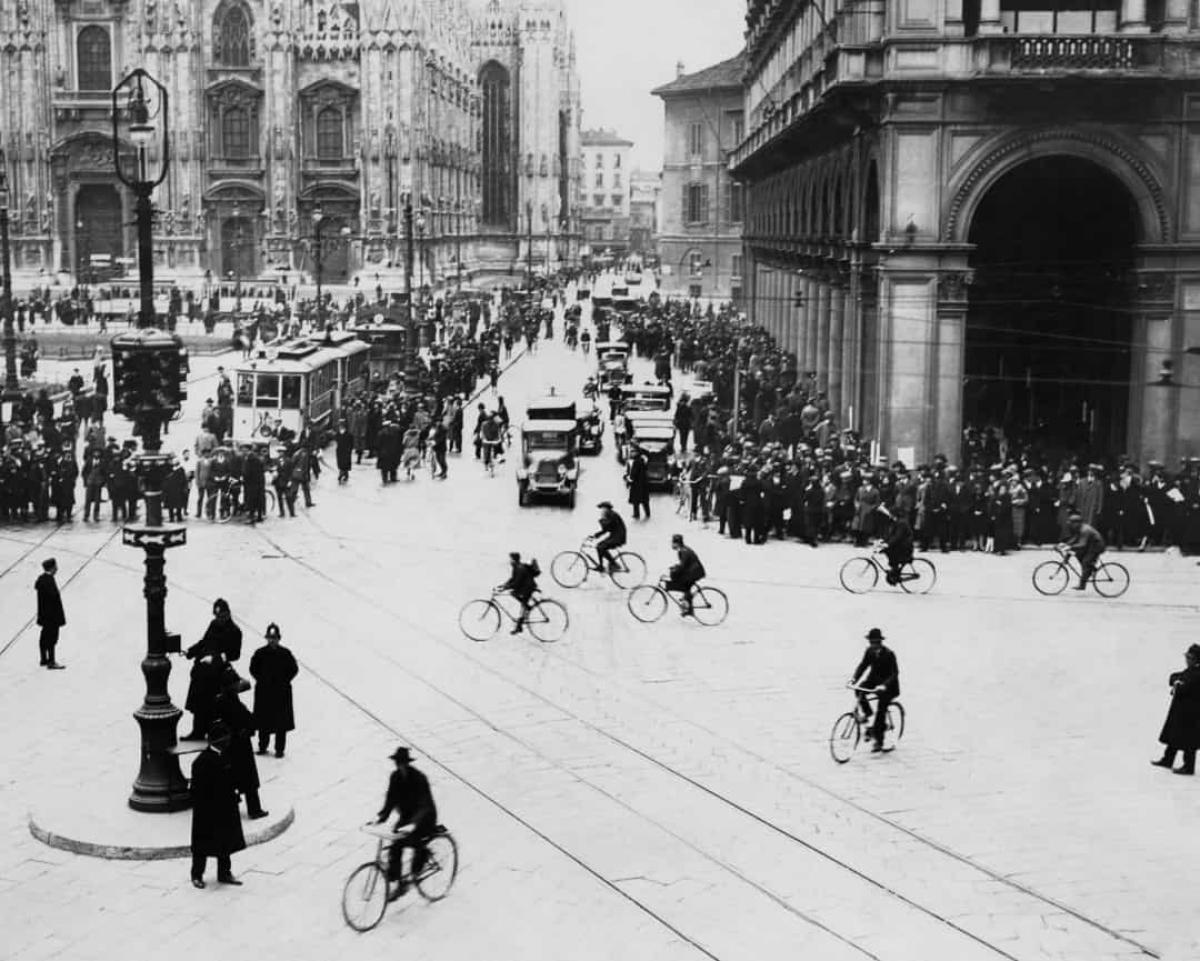 Thành phố Milan nổi tiếng của Italy trong khoảng thời gian từ 1910 - 1920./.