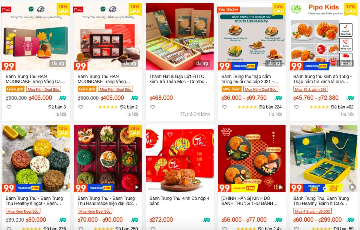 """Trên """"chợ mạng"""", nhiều loại bánh được rao bán song khách mua vẫn thưa thớt."""