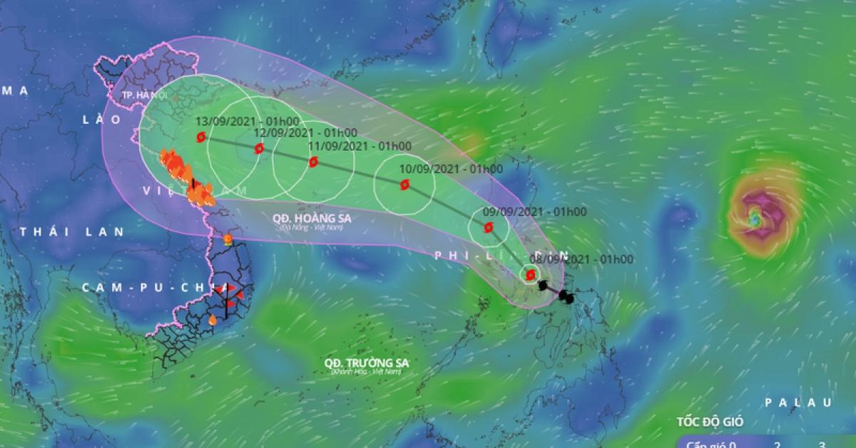 Bão Conson sẽ phải chịu tác động bởi một cơn bão rất mạnh khác đang hoạt động ngoài khơiPhilippines.