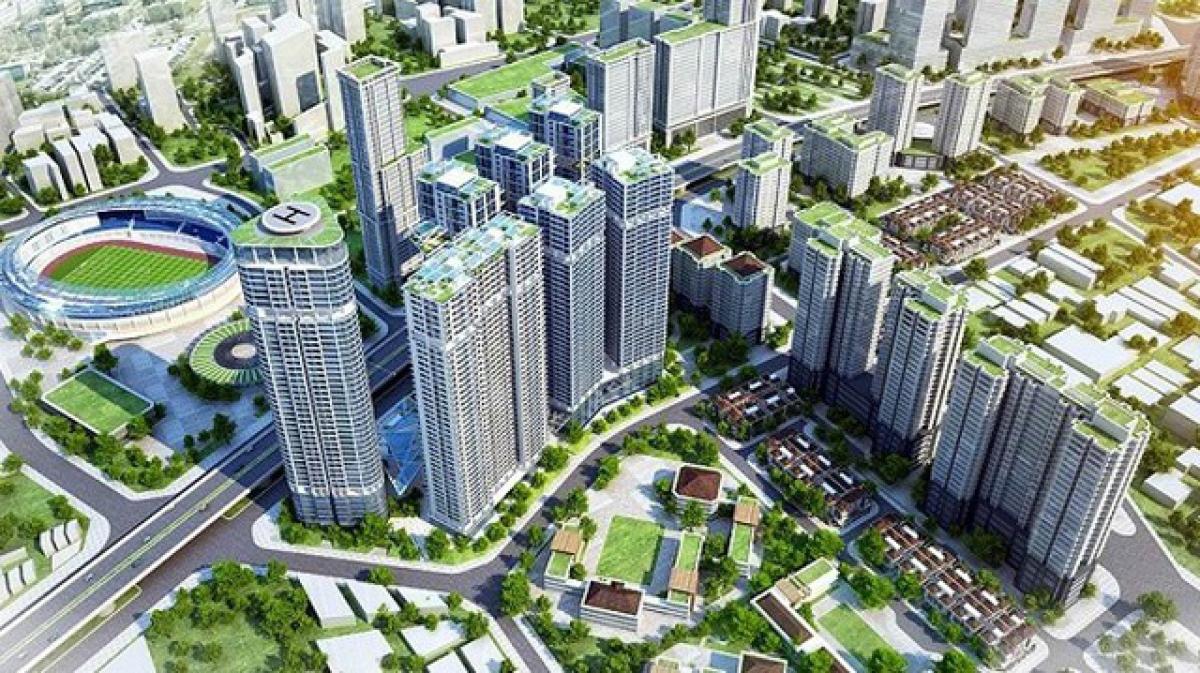 Phát triển các đại đô thị mới sẽ giúp giãn dân cho nội đô TP Hà Nội. Ảnh minh họa: Dân trí.