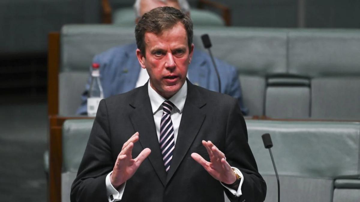 Bộ trưởng Thương mại và Du lịch Australia Dan Tehan. Nguồn: Martin Ollman