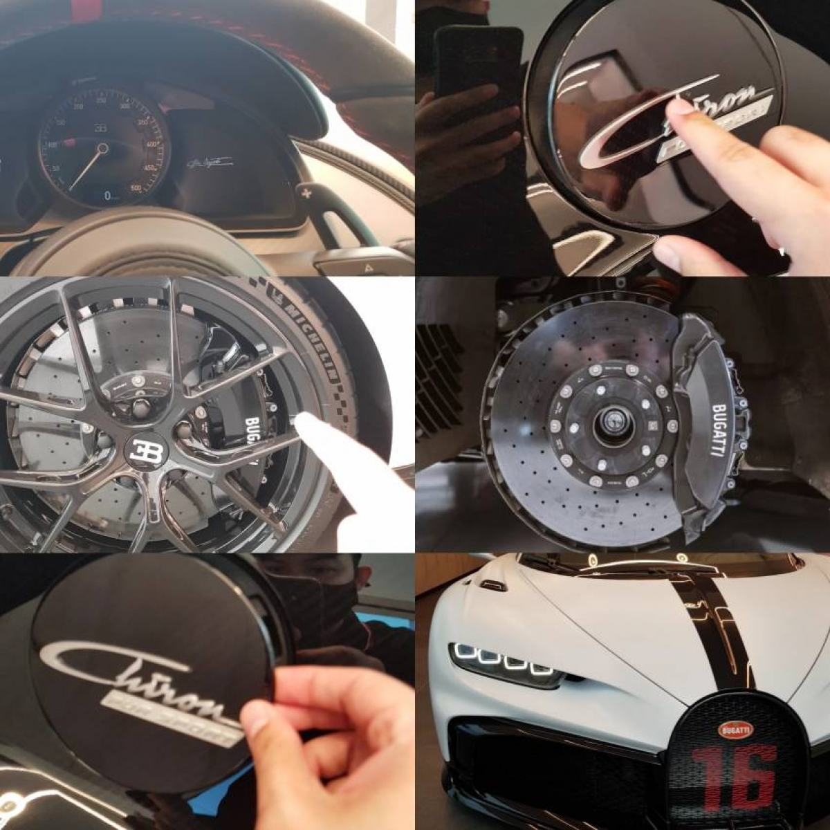 Một số bộ phận cần thay thế định kỳ trên Bugatti Chiron Pur Sport.