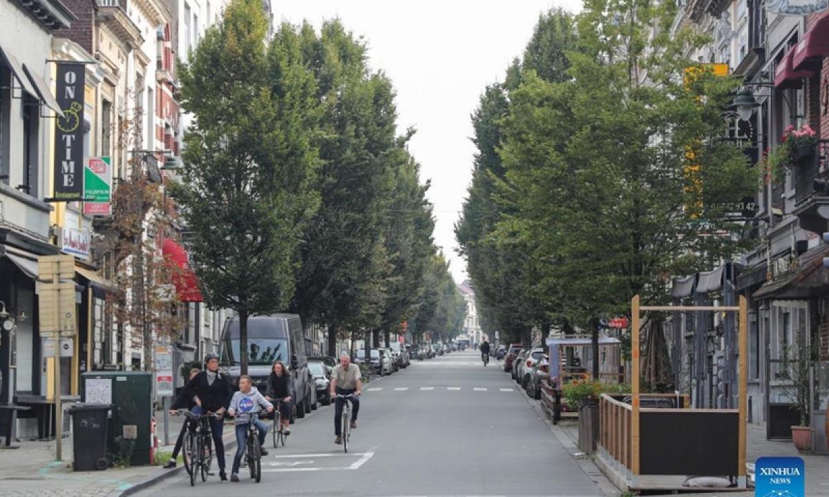 Ngày không ô tô ở Bỉ. Ảnh: Tân hoa xã