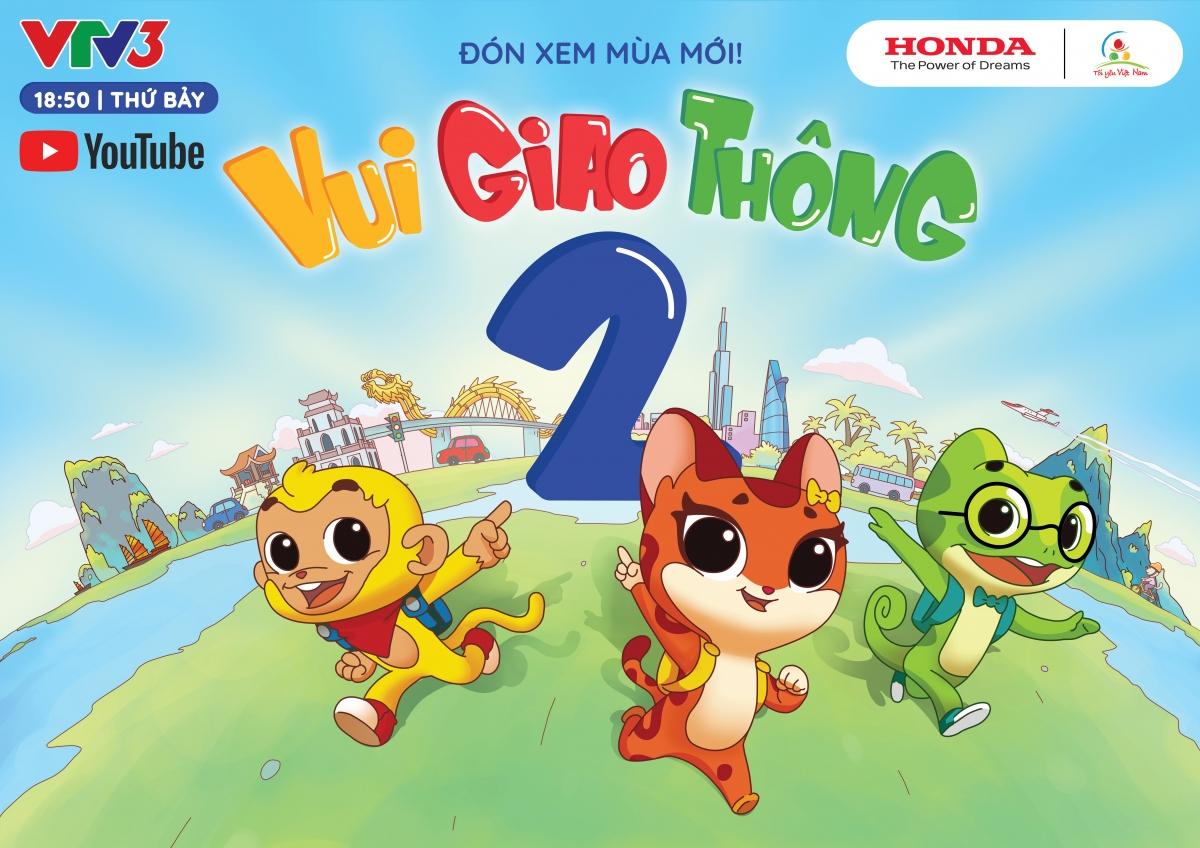 """Chương trình """"Tôi yêu Việt Nam"""" mùa này sẽ là chuỗi phim hoạt hình với tên gọi """"Vui giao thông""""."""