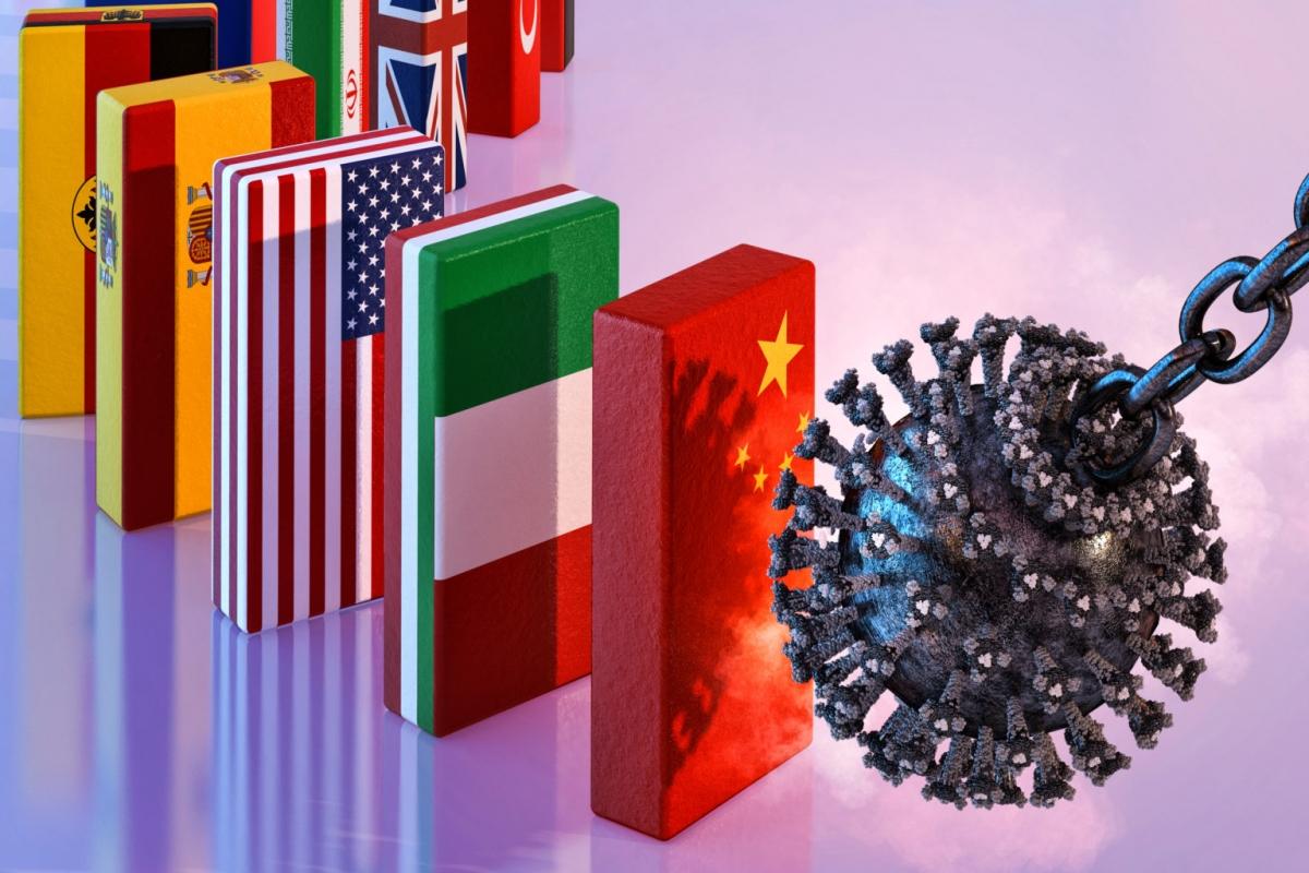 Kinh tế toàn cầu tổn thất nặng nề vì Covid-19. (Ảnh minh họa: eiu.com)