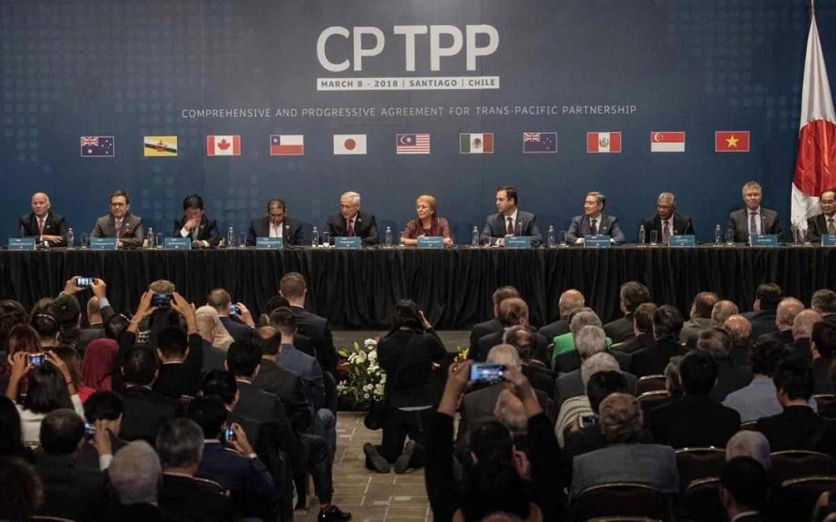 Hội nghị CPTPP vào tháng 3/2018. Ảnh: Tân Hoa xã.