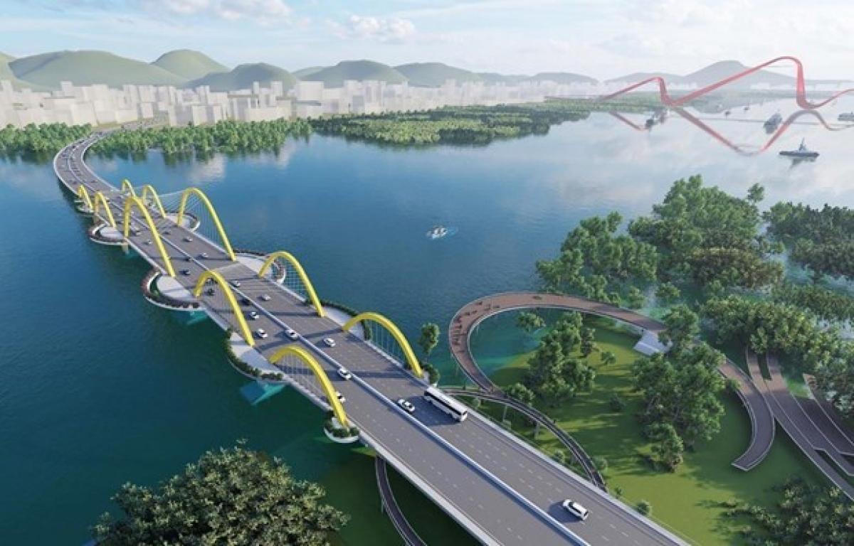 A graphic design of Cua Luc 1 Bridge in Quang Ninh province (Photo: quangninh.gov.vn)