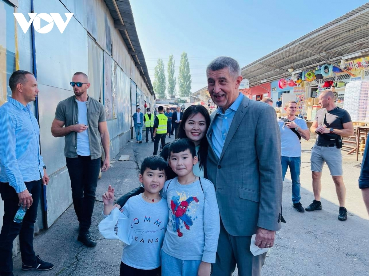 ….and taking photos with Vietnamese people there.