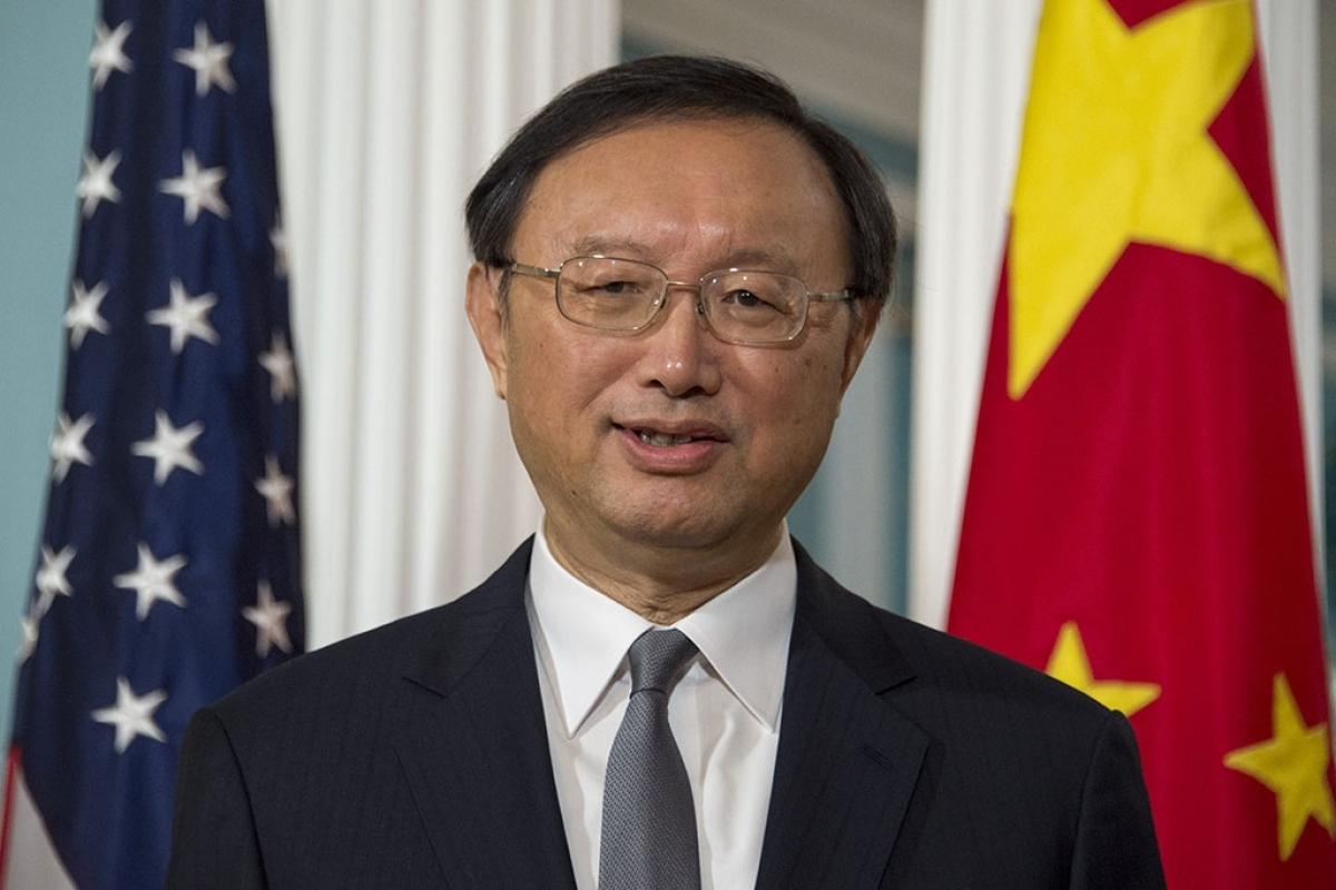 Ủy viên Bộ Chính trị, nhà ngoại giao hàng đầu của Trung Quốc Dương Khiết Trì. Ảnh: CGTN