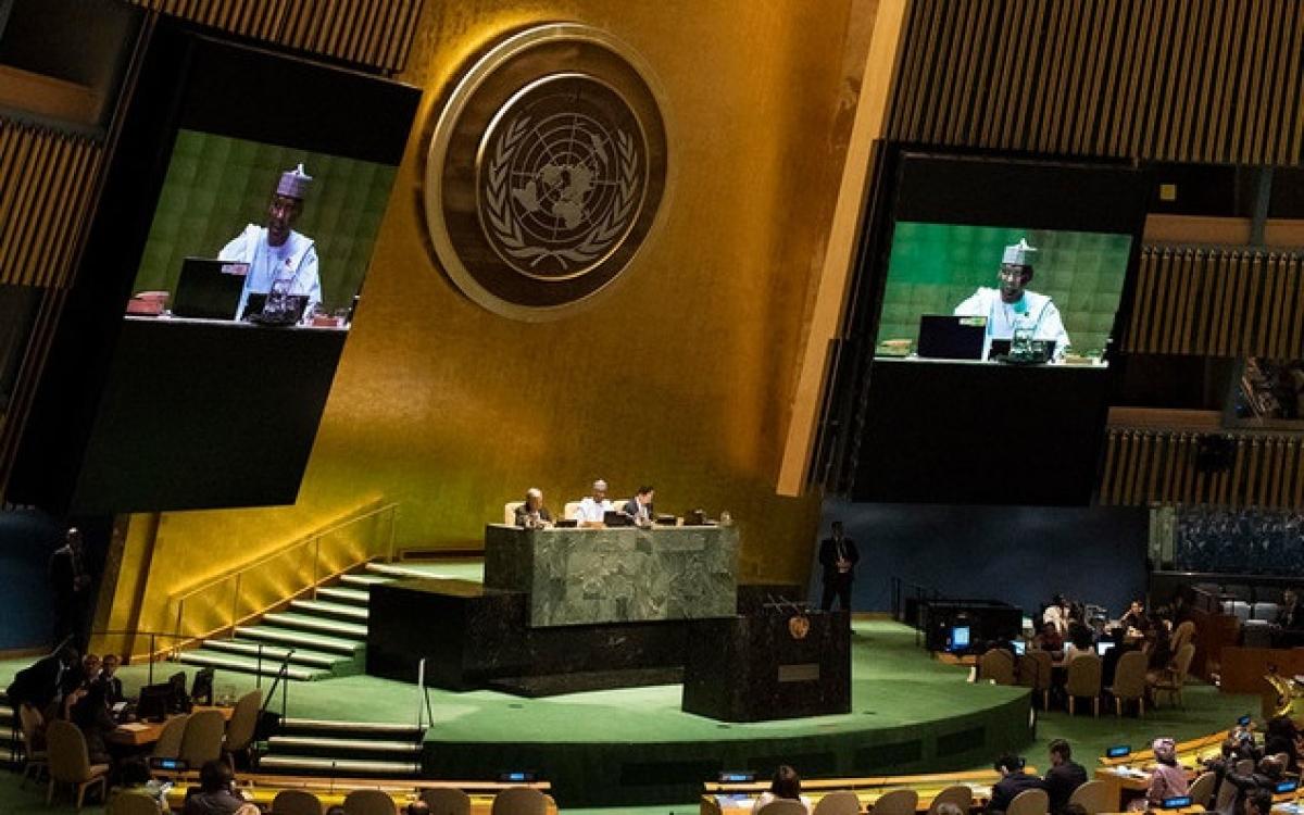 Một phiên hợp của Đại hội đồng Liên Hợp Quốc. Ảnh minh họa: UN.