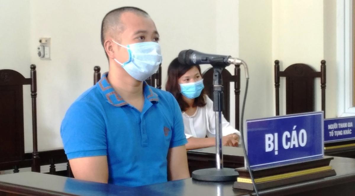 Bị cáo Lương Thanh Tùng tại phiên tòa