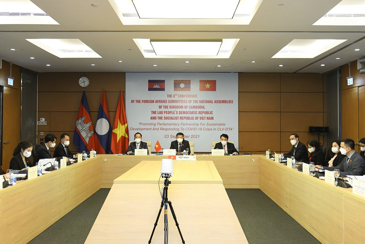 Đoàn Đại biểu Ủy ban Đối ngoại của Quốc hội Việt Nam tham dự Hội nghị. (Ảnh: quochoi.vn)