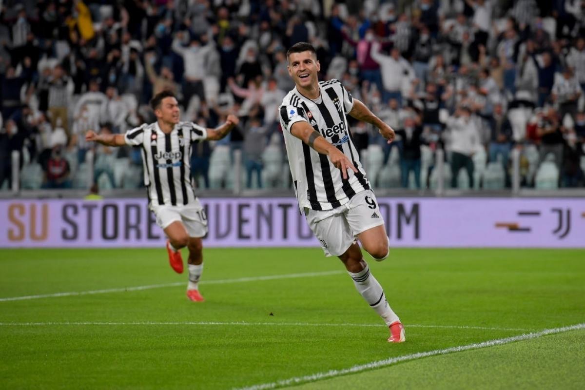 Morata mở tỉ số cho Juventus từ rất sớm (Ảnh: Getty).
