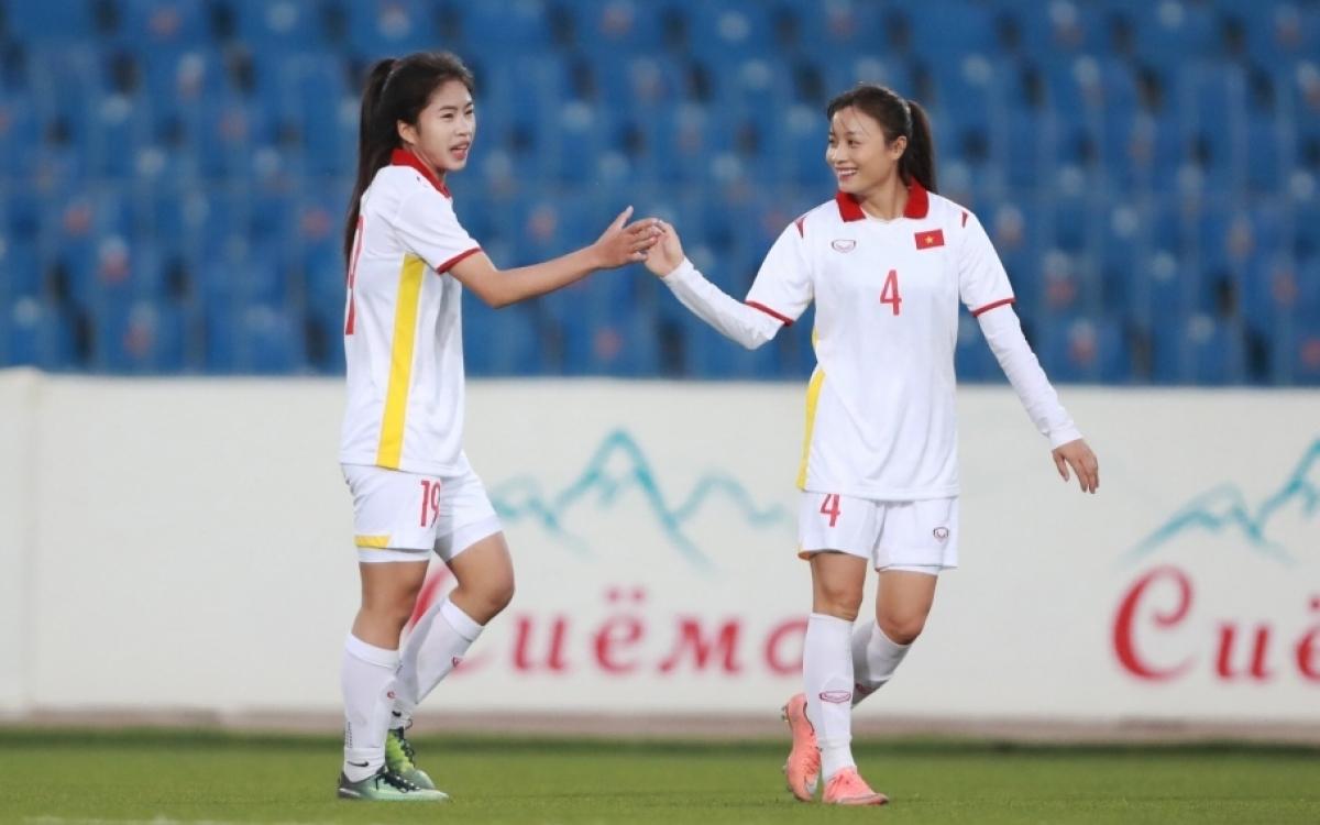 ĐT nữ Việt Nam chỉ cần hoà Tajikistan là đoạt vé dự VCK Asian Cup 2022. (Ảnh: VFF)