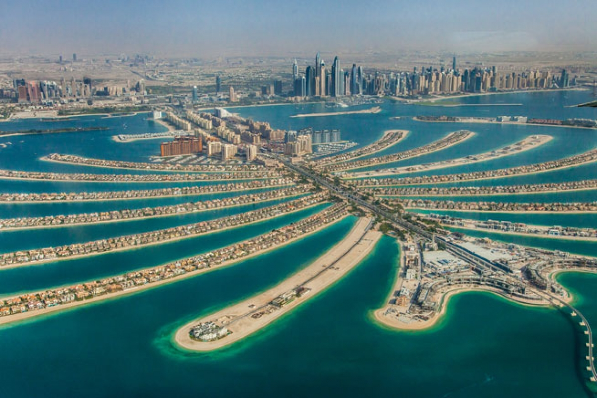 Dự án lấn biển tại Dubai (ảnh minh họa).