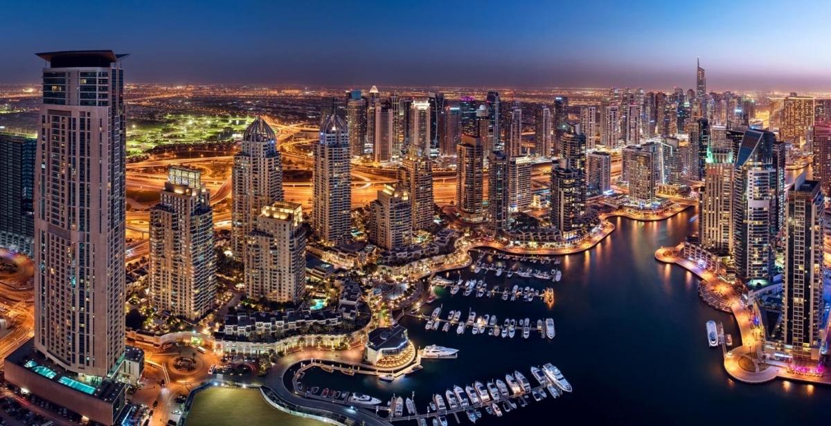 Toàn cảnh Dubai Marina từ trên cao