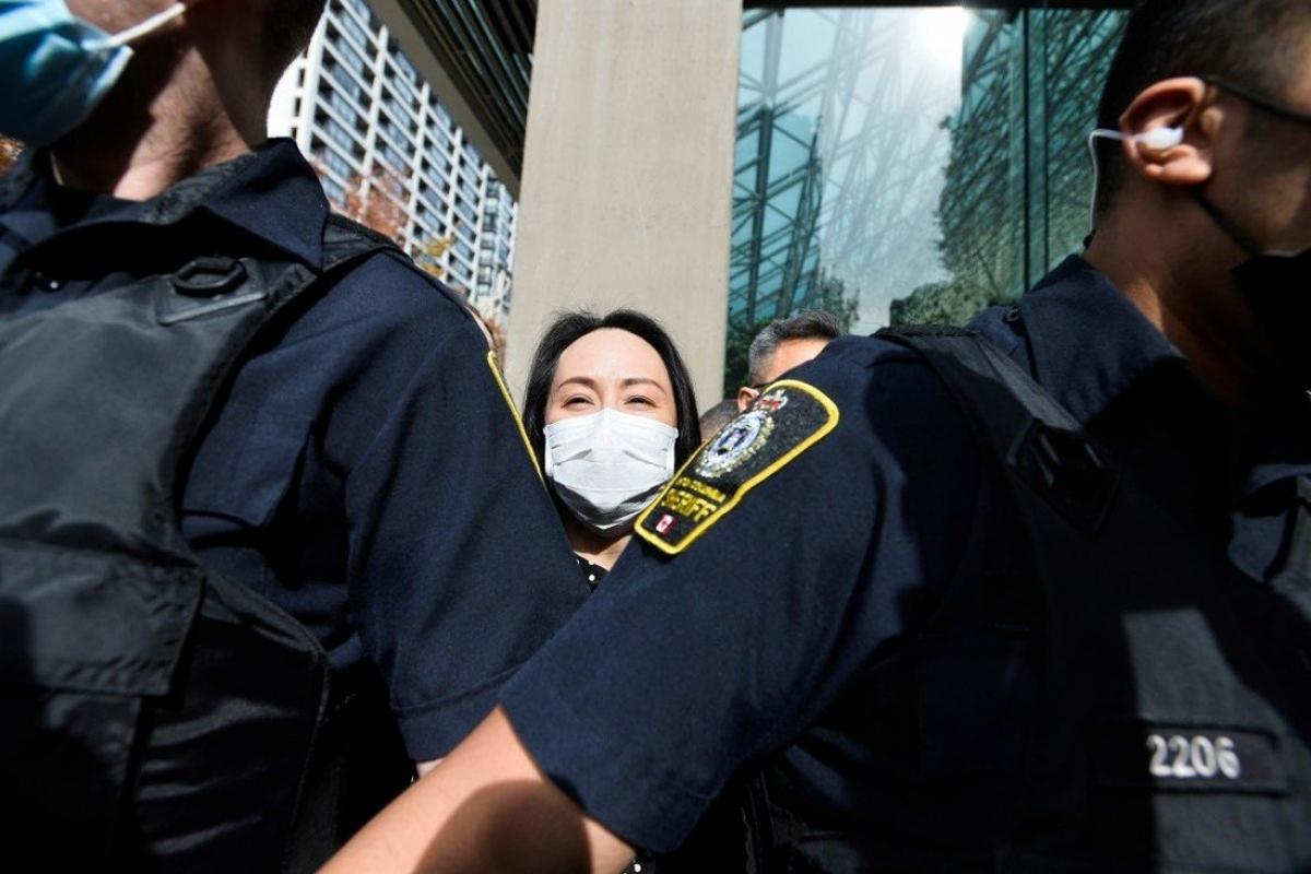 Bà Mạnh Vãn Chu đã lên máy bay rời Canada trở về Trung Quốc sau khi được trả tự do. Ảnh: Reuters