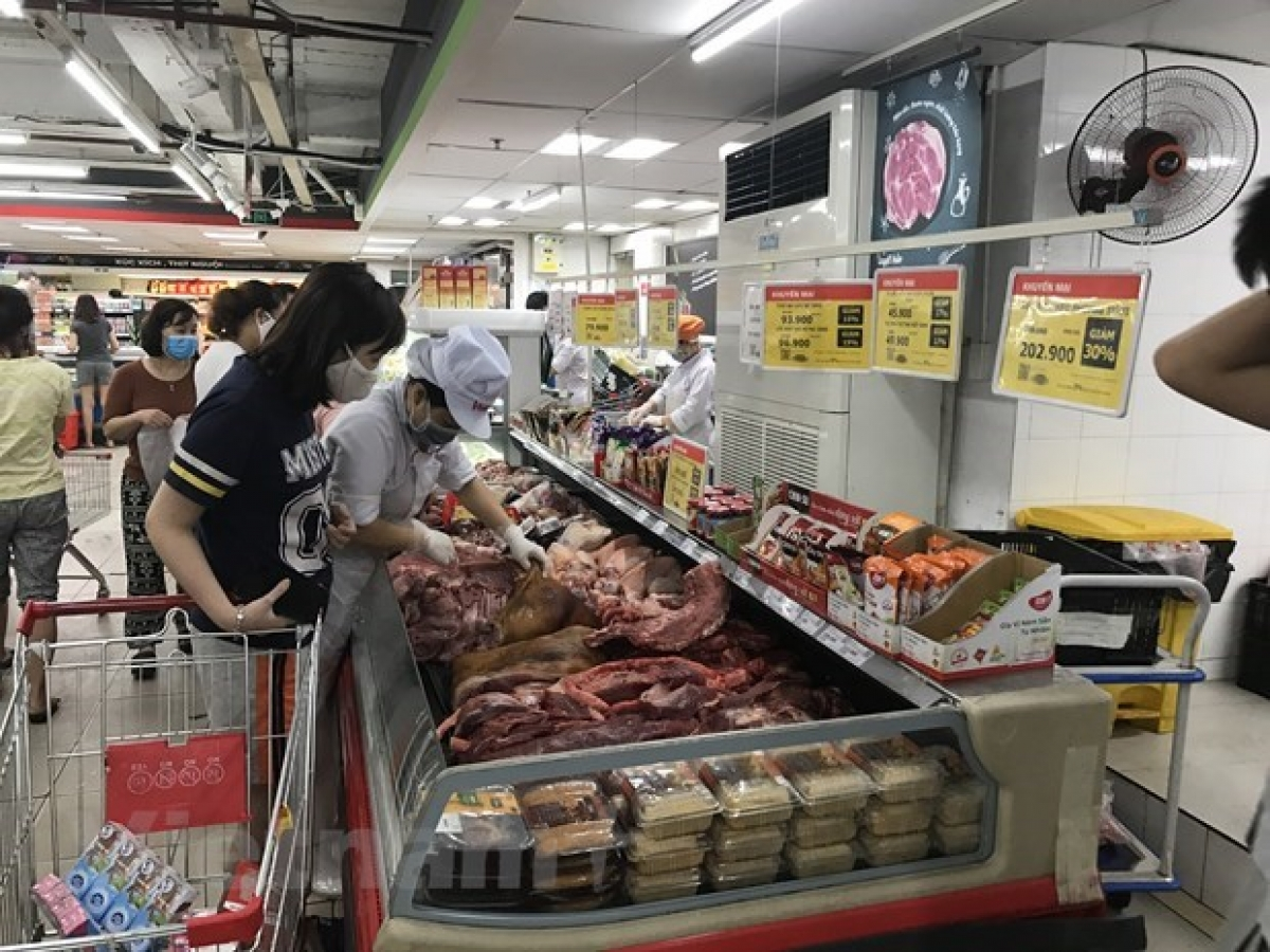 Meat sold at a supermarket
