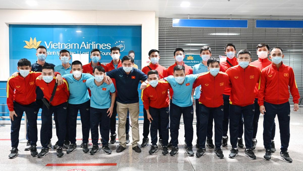 ĐT Futsal Việt Nam về nước sau hành trình ấn tượng ở VCK Futsal World Cup 2021 (Ảnh: VFF).