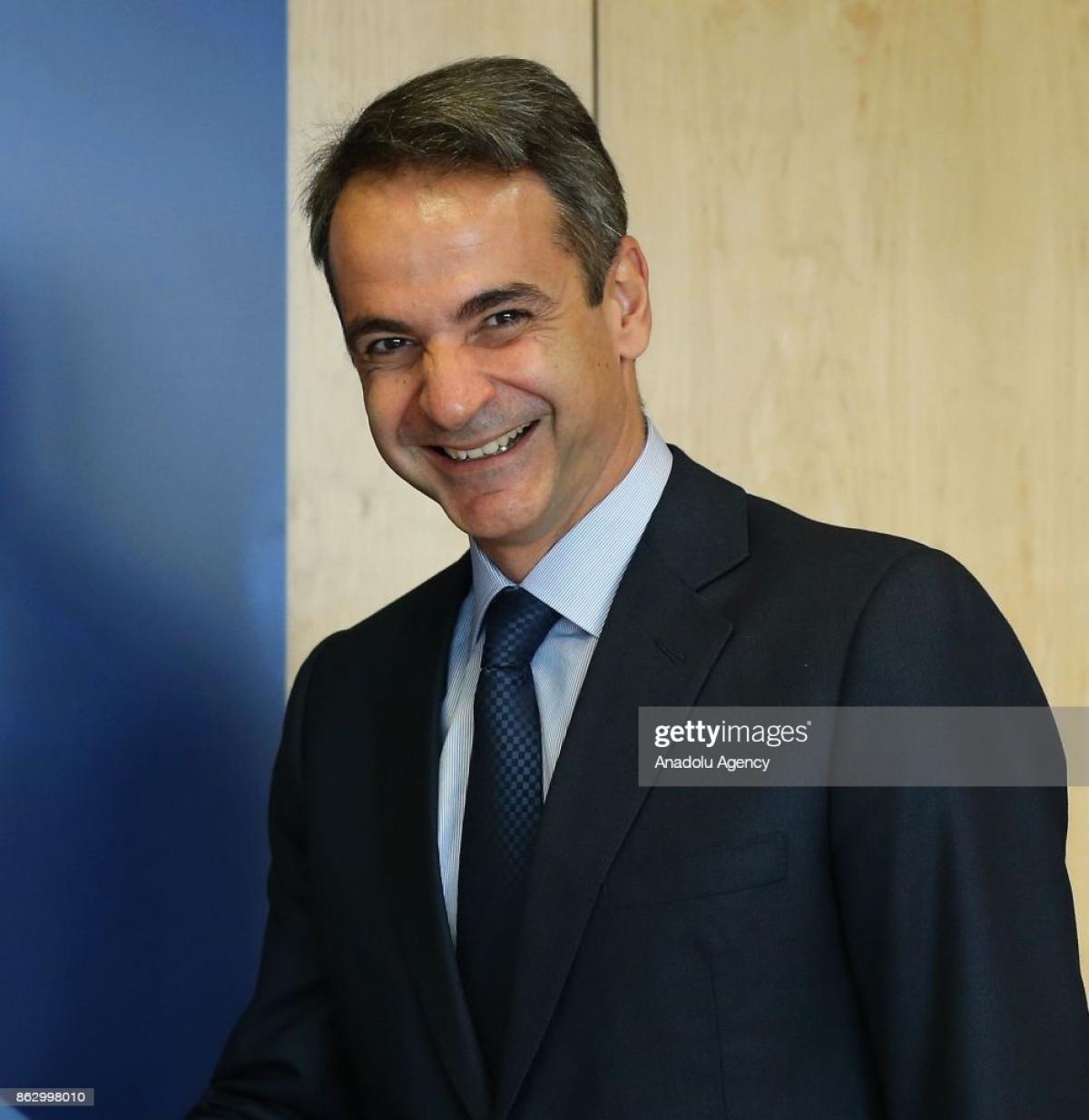 Thủ tướng Hy Lạp Kyriakos Mitsotakis. Ảnh: Getty.
