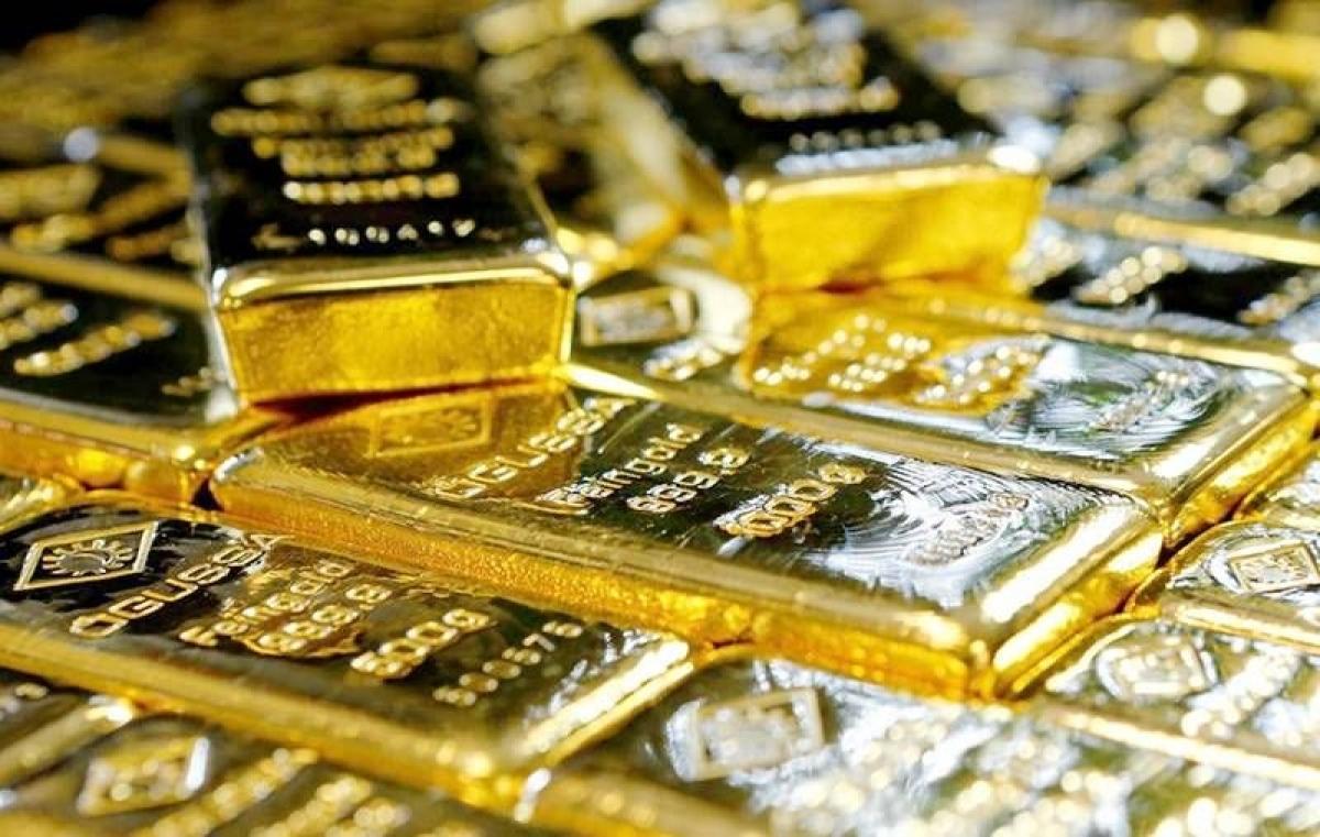 Giá vàng trong nước giảm ngược chiều với vàng thế giới. (Ảnh: KT)