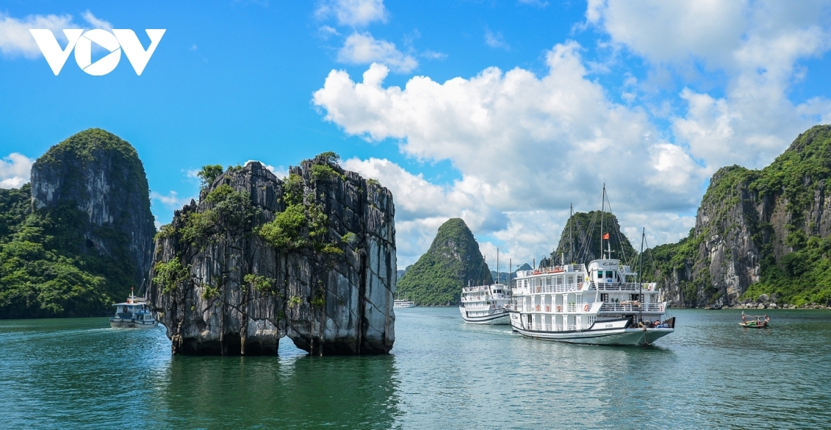 Ha Long Bay, a UNESCO-recognised world heritage site in northern Vietnam.