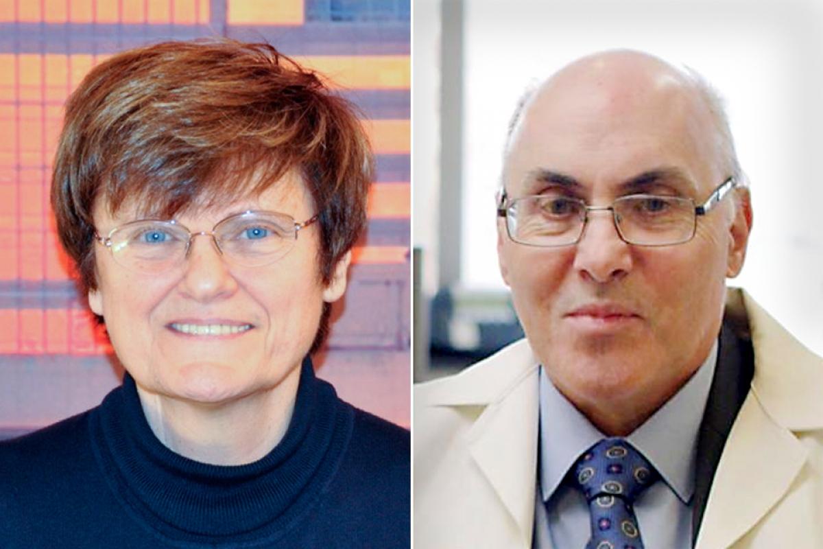 Nhà khoa học Katalin Karikó và Drew Weissman. Ảnh: Brandeis
