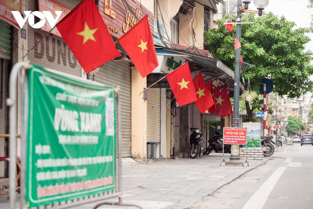 Hang Dao street, one of the busiest in the Old Quarter, looks peaceful on National Day.