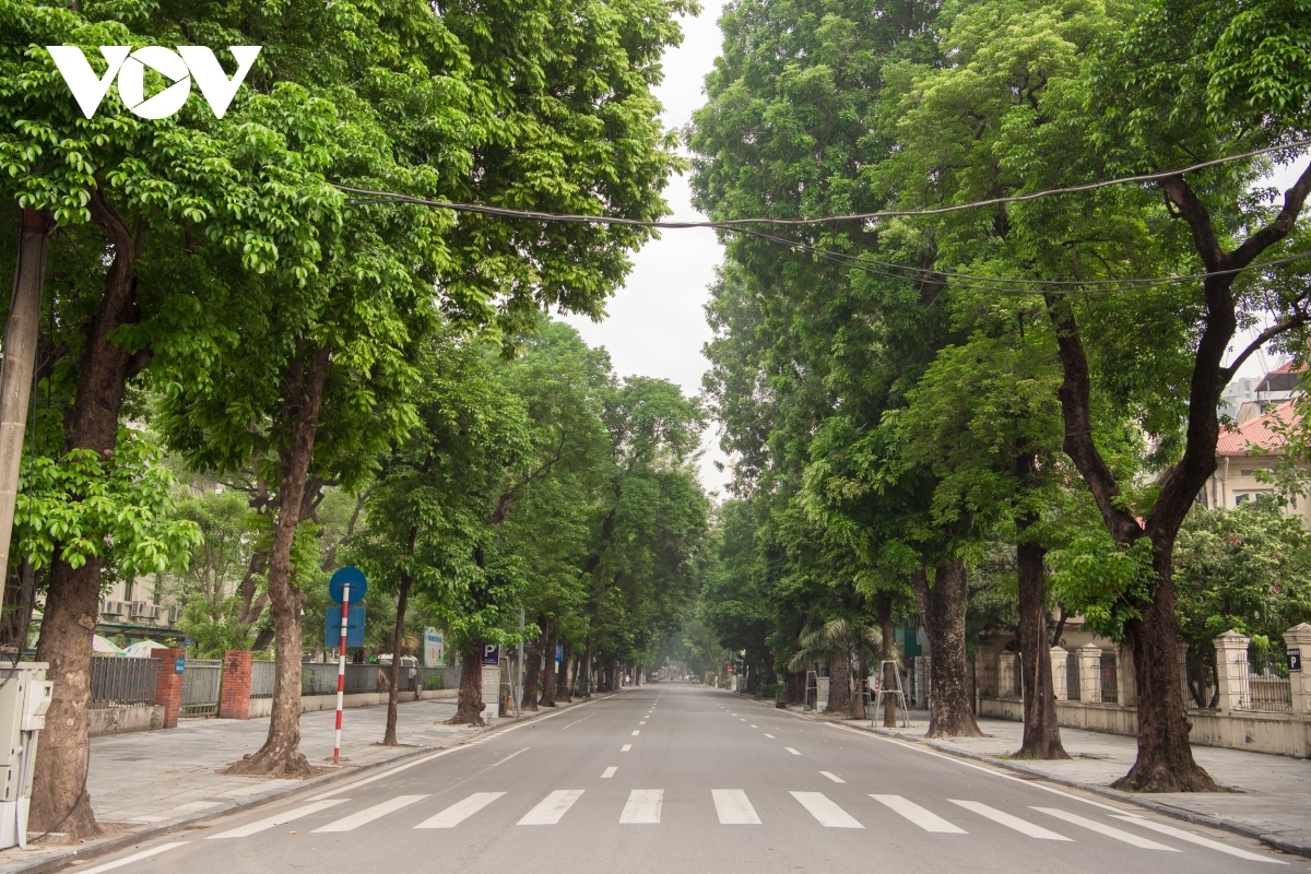 Hanoi has never been so peaceful and deserted as it is today.