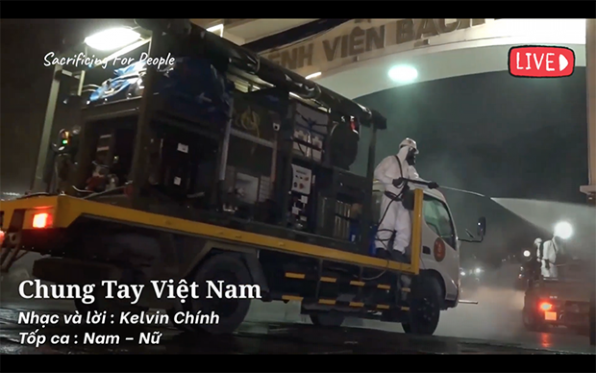A scene in a song by Kelvin Chinh (Screenshot photo)