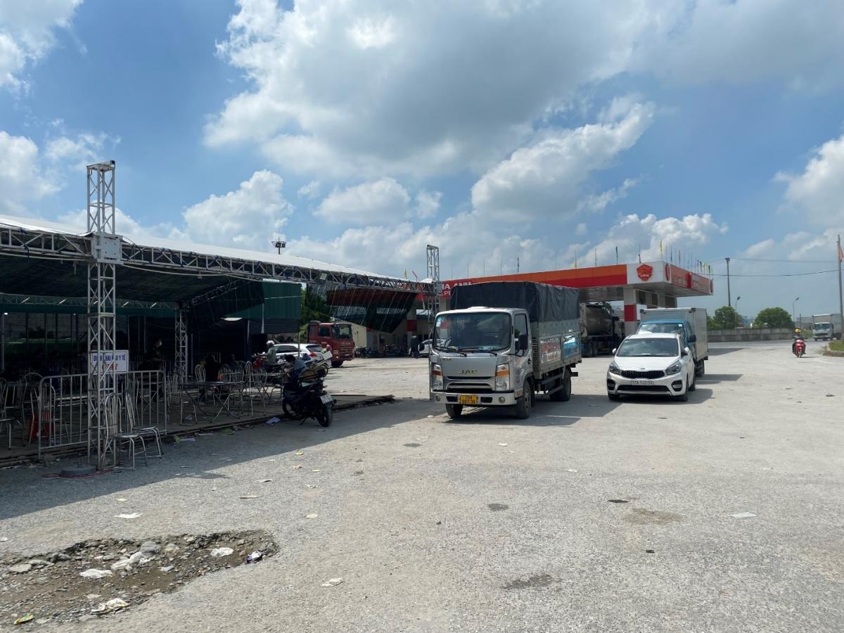 Chốt kiểm soát Cầu Nghìn trên địa bàn Huyện Vĩnh Hảo, thành phố Hải Phòng.
