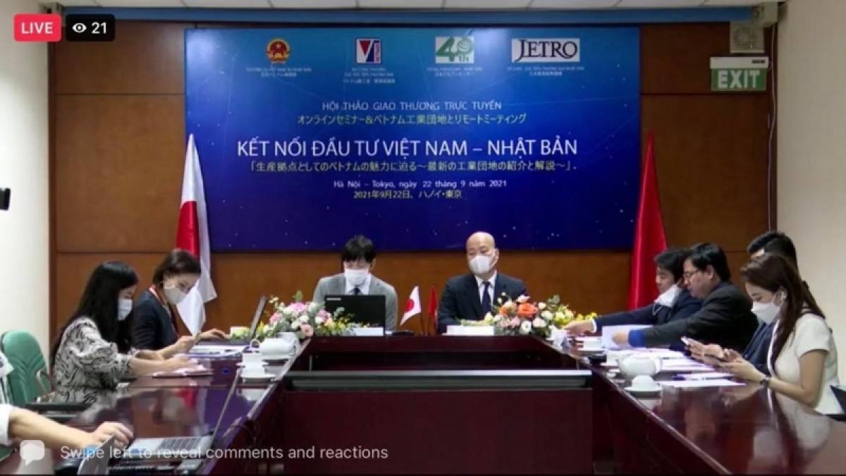 """Hội thảo trực tuyến """"Kết nối Đầu tư Việt Nam – Nhật Bản"""""""