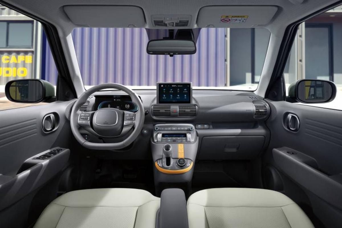 Khoang nội thất khá hiện đại của Hyundai Casper