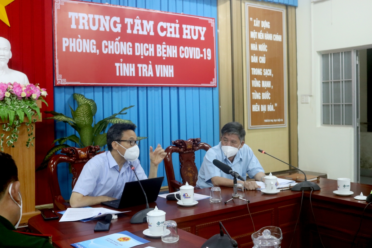 Phó thủ tướng Vũ Đức Đam làm việc với tỉnh Trà Vinh về công tác phòng chống dịch Covid-19