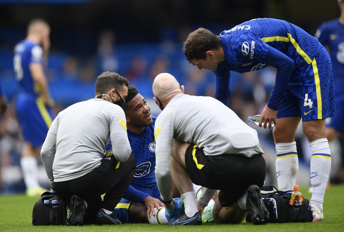 Reece James chấn thương khiến Chelsea gặp thiệt thòi về nhân sự. (Ảnh: Reuters).