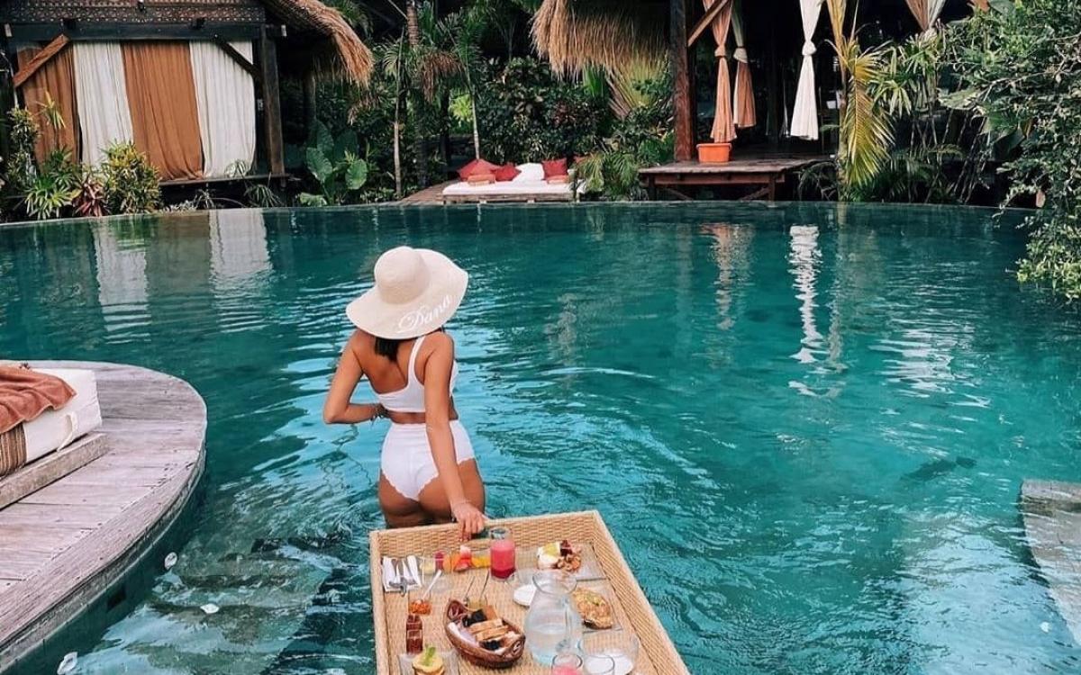 Một khu nghỉ dưỡng ở Bali. Ảnh: Pinterest.