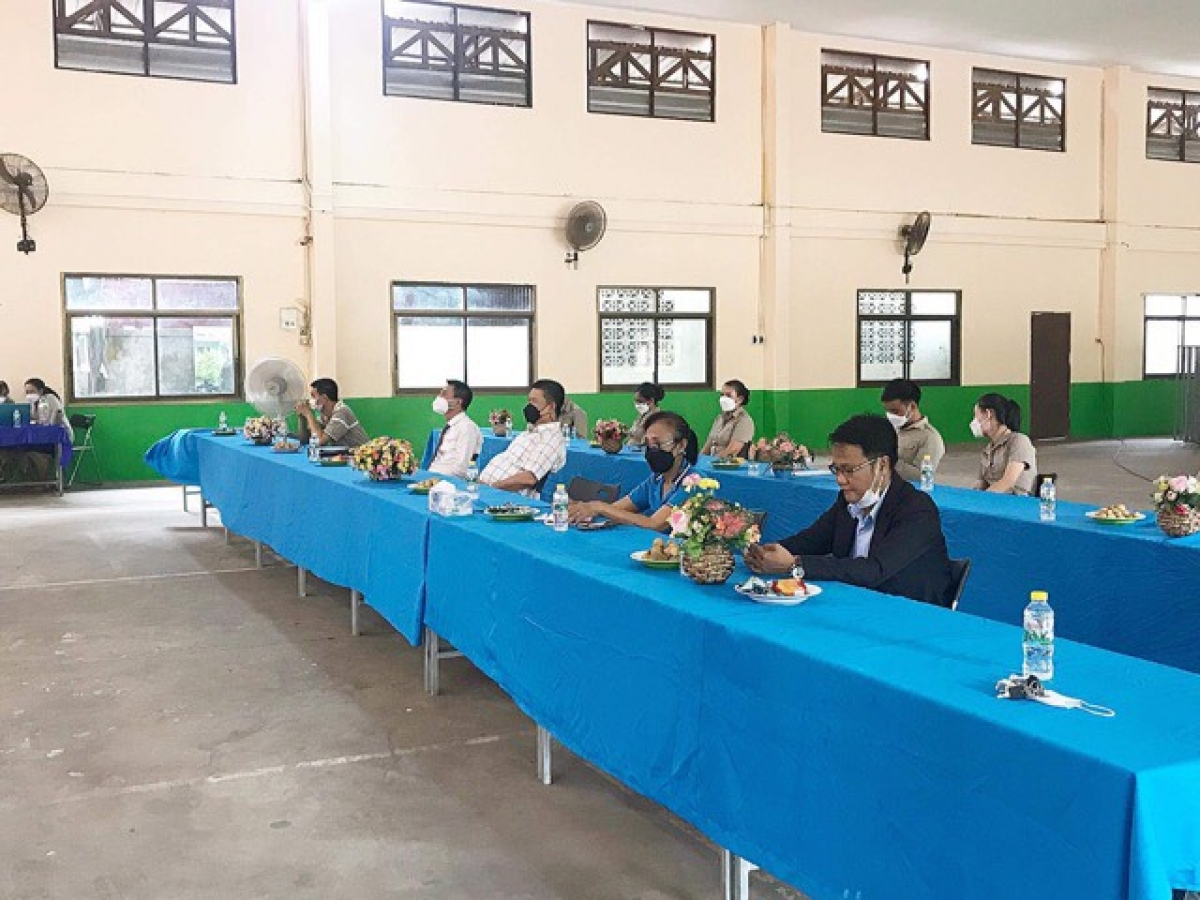 Trường song ngữ Lào - Việt Nam Nguyễn Du khai giảng năm học 2021-2022.